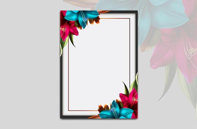 Hermoso marco de flores de lujo