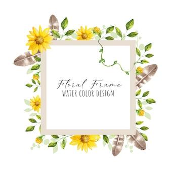Hermoso marco de flores