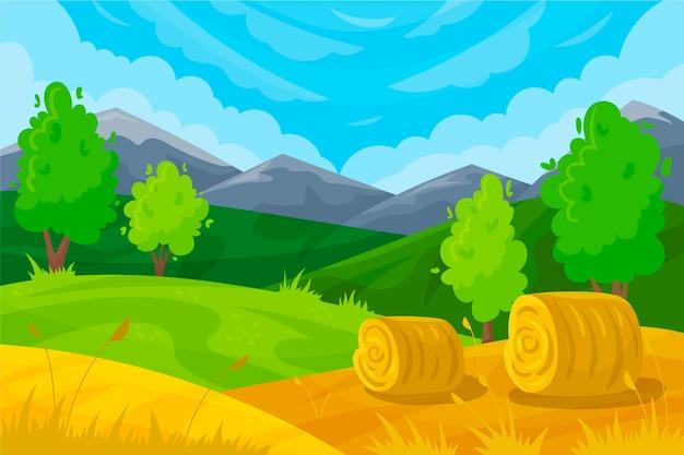 Hermoso paisaje de campo