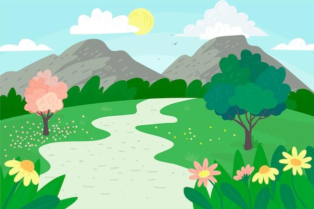 Hermoso paisaje de primavera