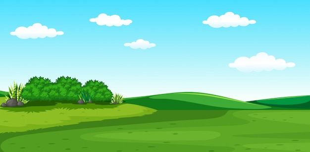 Un hermoso paisaje verde