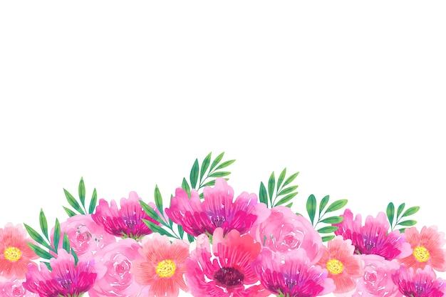 Hermoso papel tapiz floral acuarela