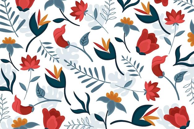Hermoso papel tapiz floral exótico