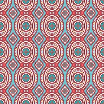 Hermoso patrón de colores abstractos retro con pétalos