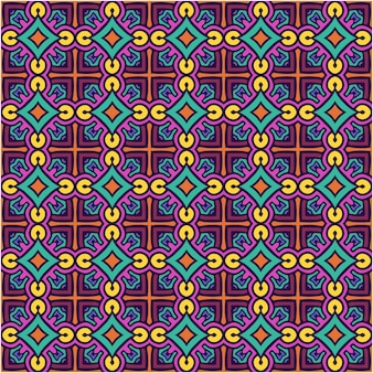 Hermoso patrón sin costuras con estilo abstracto