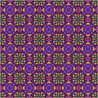 Hermoso patrón sin costuras con estilo étnico