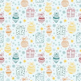 Hermoso patrón sin costuras de navidad