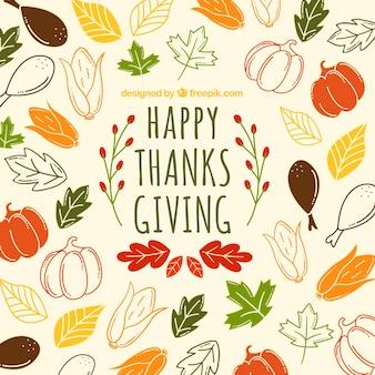 Hermoso patrón de thanksgiving