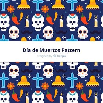 Hermoso patrón del día de muertos