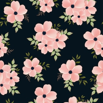 Hermoso patrón sin fisuras con ramo de flores