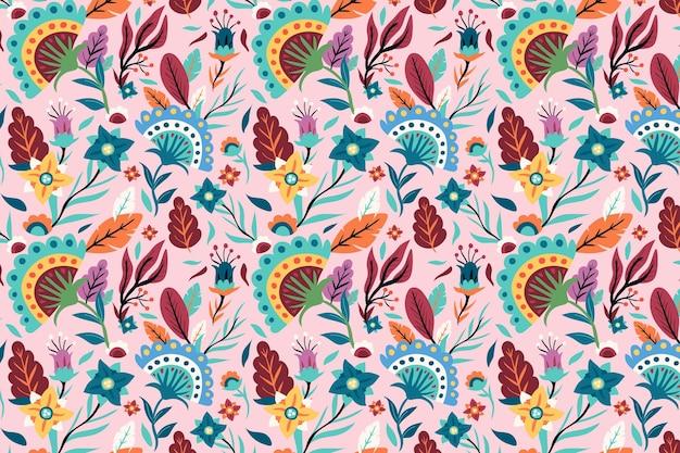 Hermoso patrón floral exótico