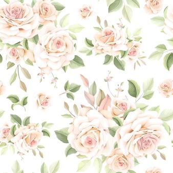 Hermoso patrón floral sin fisuras