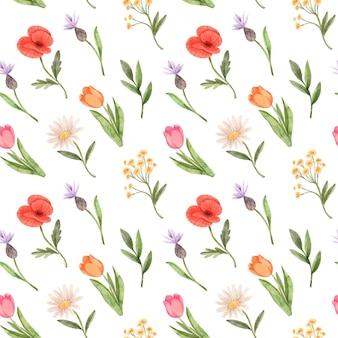 Hermoso patrón floral de primavera