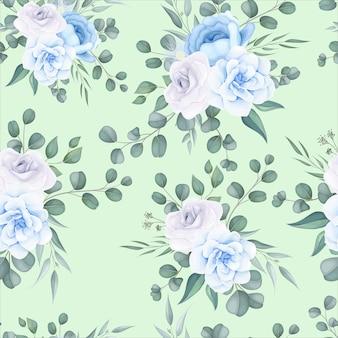 Hermoso patrón floral transparente con delicado adorno floral
