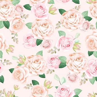 Hermoso patrón floral transparente