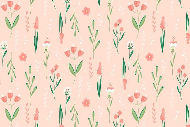 Hermoso patrón floral