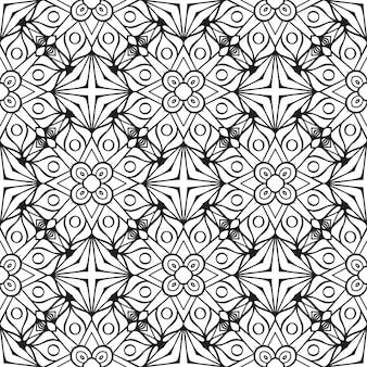 Hermoso patrón inconsútil tradicional indio