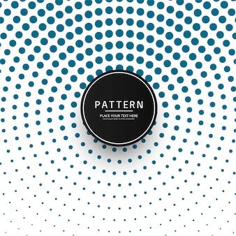 Hermoso patrón de medios tonos circulares