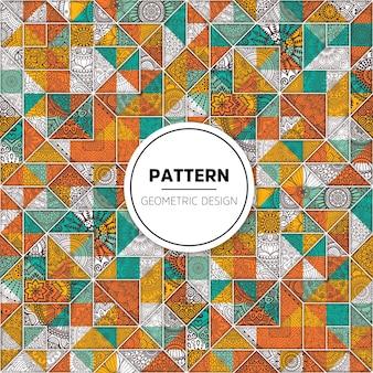 Hermoso patrón de mosaico con ornamentos