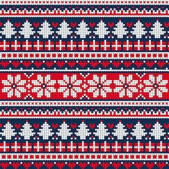 Hermoso patrón de navidad de punto