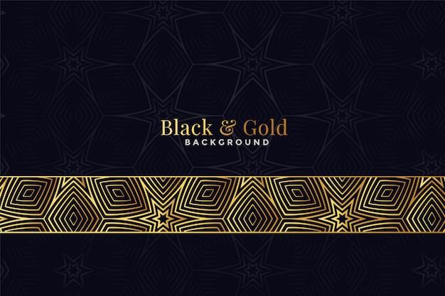 Hermoso patrón negro y dorado