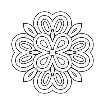 Hermoso patrón transparente floral islámico.