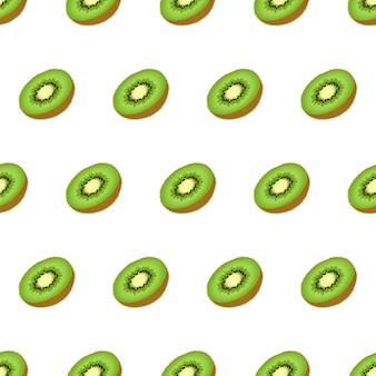Hermoso patrón transparente con muchos kiwi.