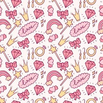 Hermoso patrón transparente rosa