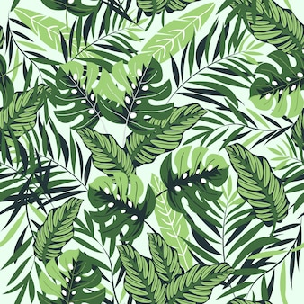 Hermoso patrón tropical
