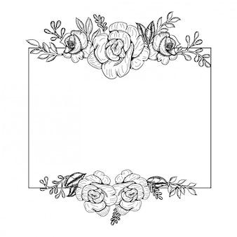 Hermoso ramo blanco y negro rosa