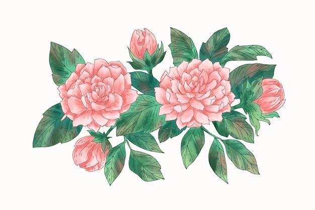 Hermoso ramo floral vintage