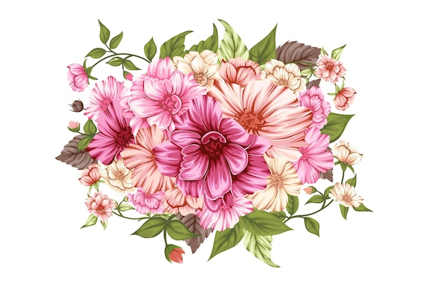 Hermoso ramo de flores de primavera