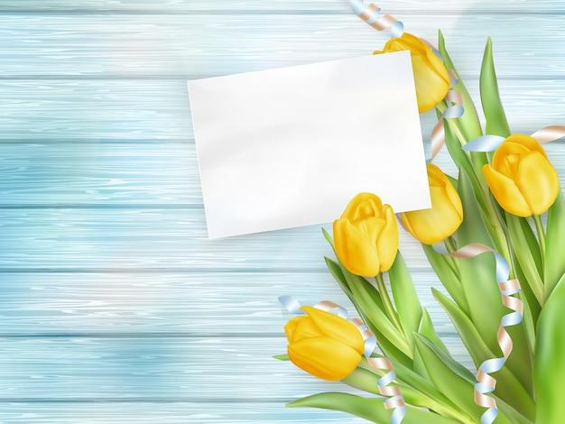 Hermoso ramo de tulipanes.