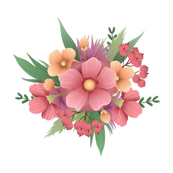 Hermoso ramo vintage de flores