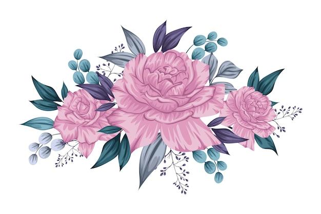 Hermoso ramo violeta de flores