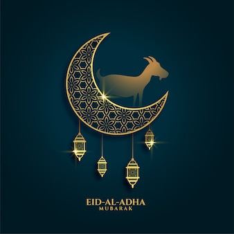 Hermoso saludo del fondo del festival eid al adha