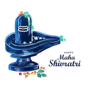 Hermoso señor realista shiva shivling para el festival maha shivratri