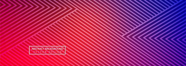 Hermoso vector de banner geométrico creativo