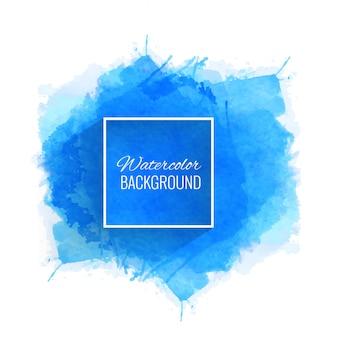 Hermoso vector de fondo azul acuarela