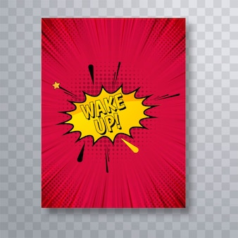 Hermoso vector de diseño de plantilla de folleto de cómic