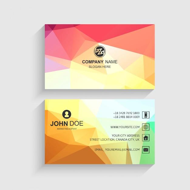 Hermoso vector de presentación de plantilla de tarjeta de visita