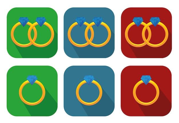 Hermosos anillos de compromiso 3d minimalistas y caros