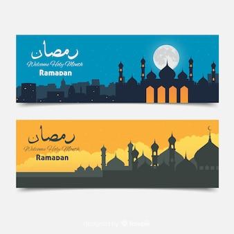 Hermosos banners de ramadán