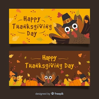Hermosos banners de thanksgiving