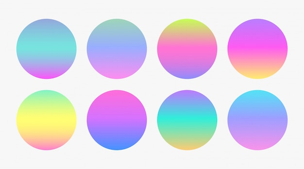 Hermosos círculos degradados de color suave