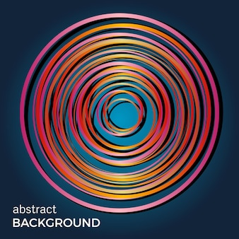 Hermosos círculos de luz sobre un fondo azul. círculos de luz de flash abstractos. fondo de tecnología vectorial.