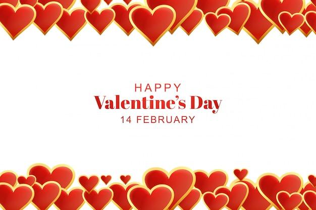 Hermosos corazones fondo del día de san valentín