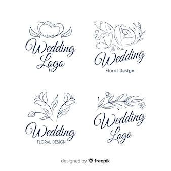 Hermosos logotipos de floristería de boda