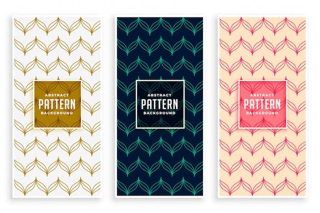 Hermosos patrones en estilo de línea