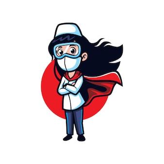 Héroe enfermera de dibujos animados